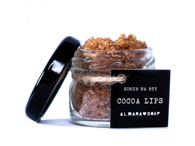 almara soap scrub na rty cocoa lips 25g
