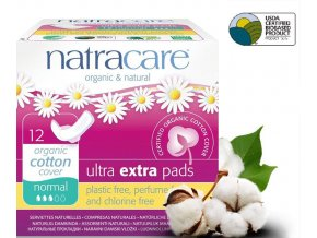 natracare menstruacni vlozky ultra extra normal s kridelky 12ks