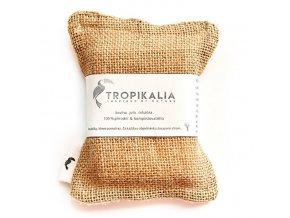 tropikalia kompostovatelna houbicka na nadobi z juty bavlny a prirodni celulozy
