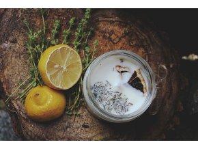 na kopecku sojova svicka citron s tymianem