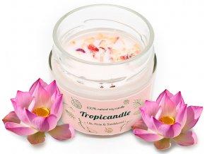 tropikalia prirodni sojova svicka tropicandle lilie rose sandalwood