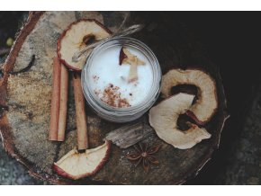 na kopecku sojova svicka pecene jablko