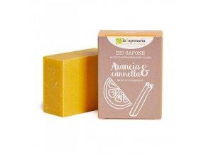 lasaponaria tuhe olivove mydlo bio pomeranc a skorice 100g