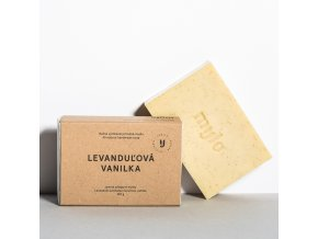 mylo levandulova vanilka jemne peelingove mydlo s vanilkou a levanduli 100g