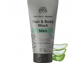 urtekram sprchovy gel a sampon men aloe vera a baobab 150ml bio