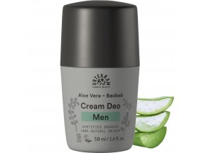 urtekram deodorant roll on men aloe vera a baobab 50ml bio