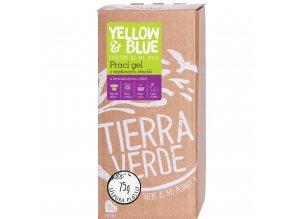 yellow blue praci gel z mydlovych orechu levandule 2l