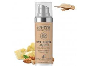 lavera lehky tekuty make up s kyselinou hyaluronovou 03 medova 30ml
