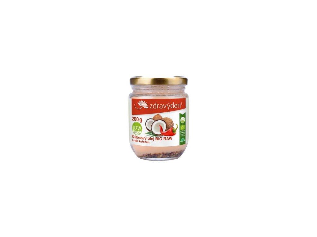 kokosovy olej bio raw 200ml s chilli