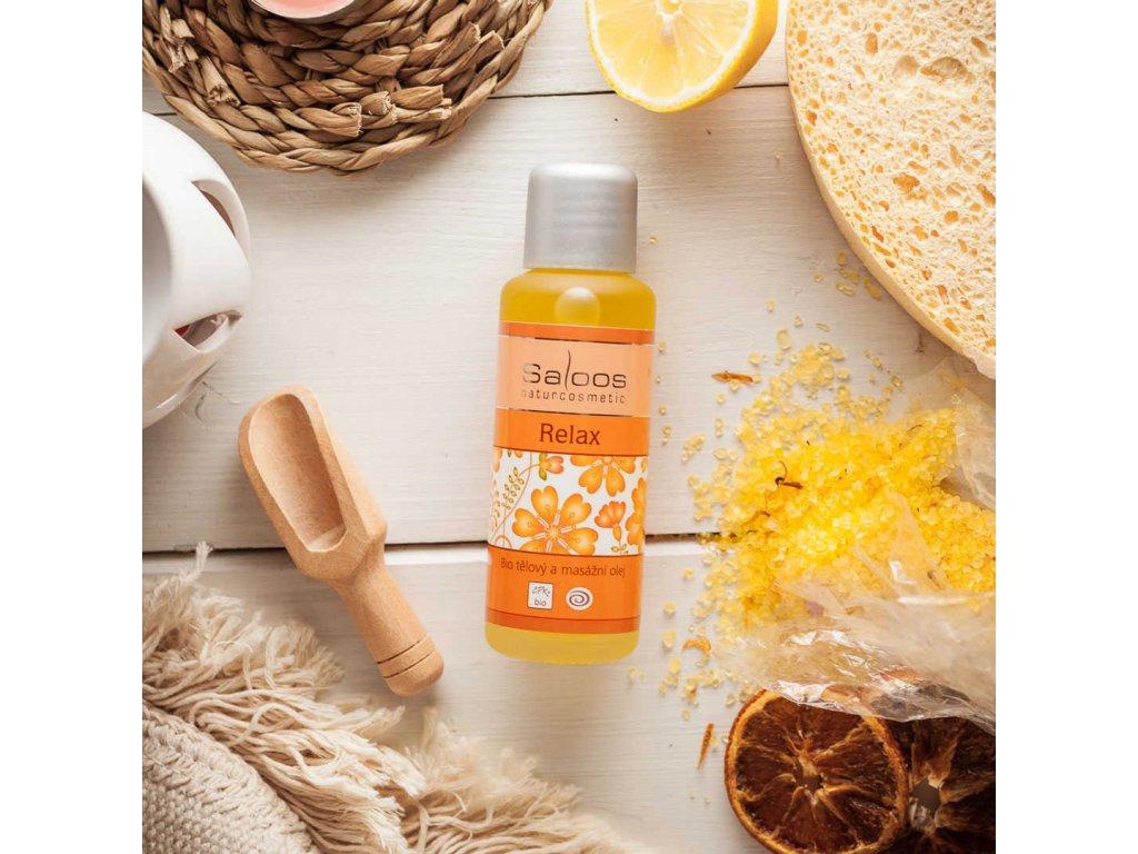 Saloos tělový a masážní olej Relax (varianta 1000ml)