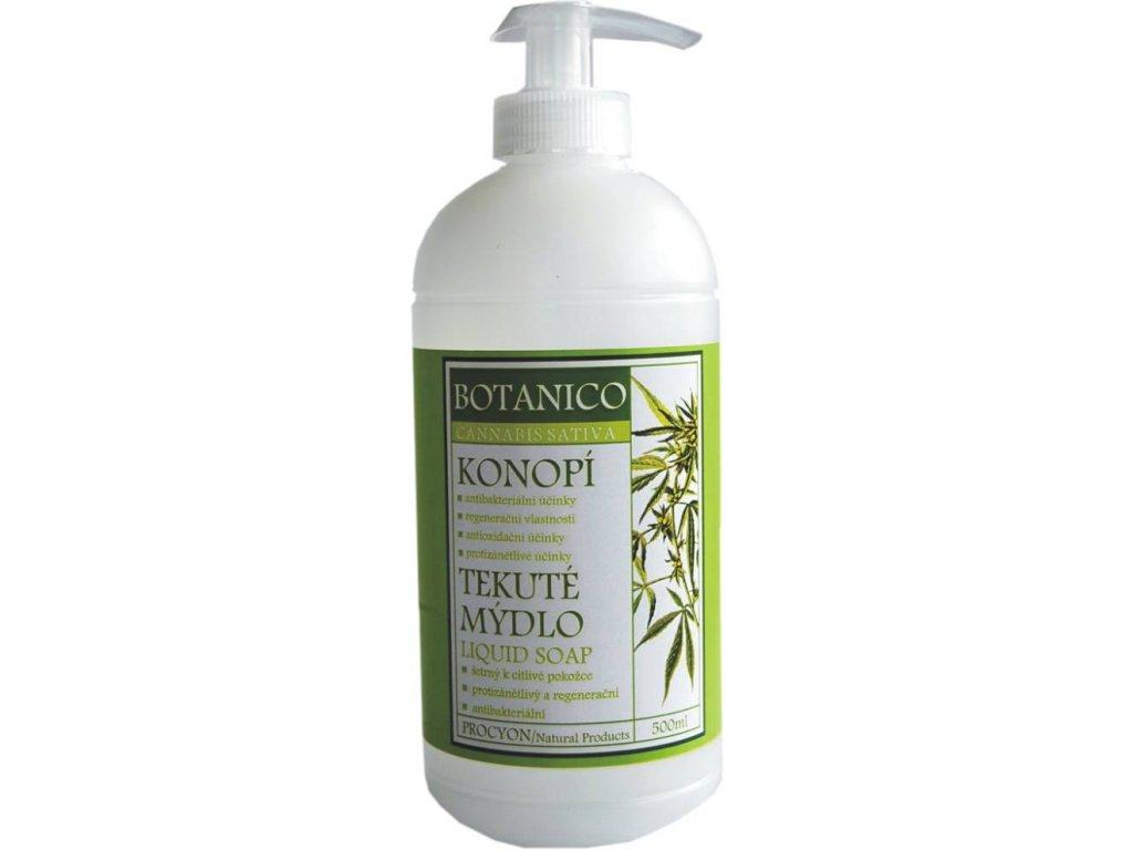 261 1 botanico mydlo tekute s konopim 500ml