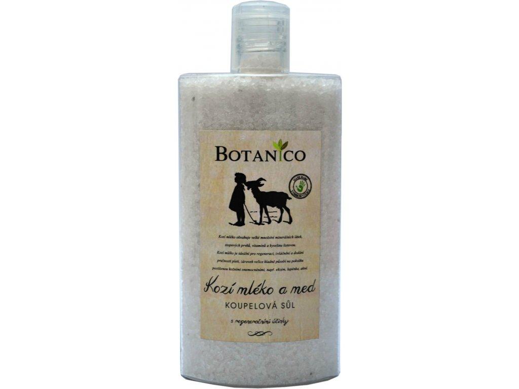 4059 1 botanico koupelova sul s kozim mlekem a medem plast 250ml