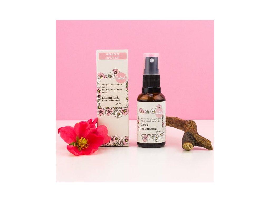 Kvitok Skalní růže Cistus BIO květová voda 30 ml