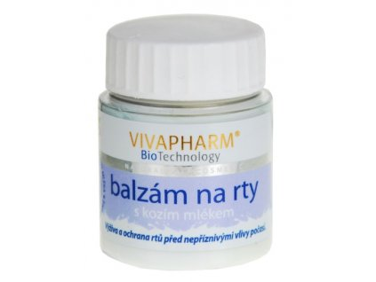 16388 vivaco balzam na rty s kozim mlekem vivapharm 25 g