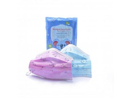 CHERISH Dětská obličejová maska - modrá pro kluky 10 Ks