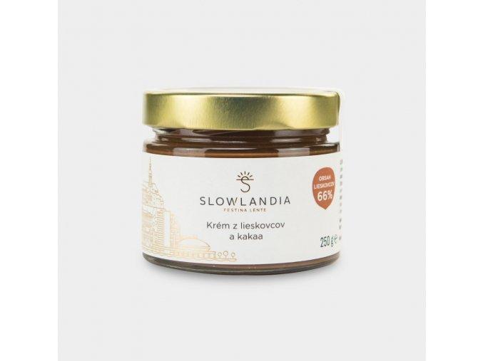 Slowtella- lieskovcovo-kakaový krém Slowlandia