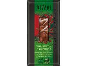 mliecna cokolada s lieskovymi orieskami vivani 100g