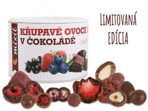 chrumkave ovocie a oriesky v cokolade mixit