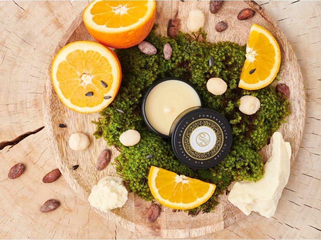 Kakaové máslo s pomerančovým olejem BIO upr