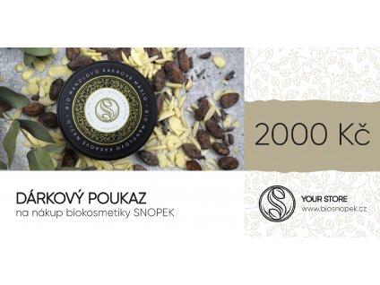 Darkovy poukaz na 2000 Kc