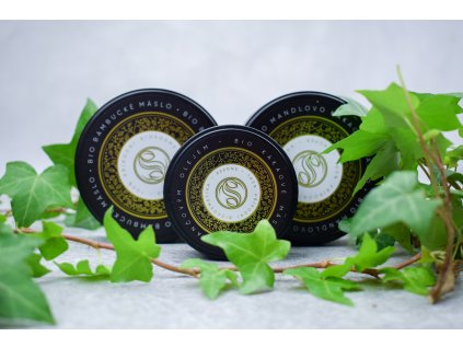 Snopek biokosmetika Bio mandlovo kakaové máslo a bio kakaové máslo s pomerančovým olejem a bio bambucké máslo 2