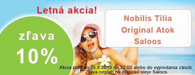 Akcia 10% Letná akcia Saloos, Original Atok, Nobilis tilia
