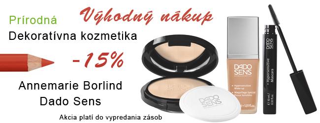 Dekoratívna kozmetika Annemarie Borlind & Dado Sens 15%