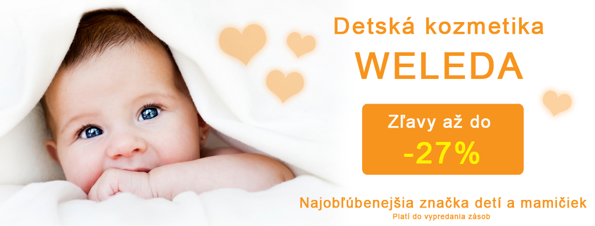 Detská kozmetika Weleda zľava až do -27%