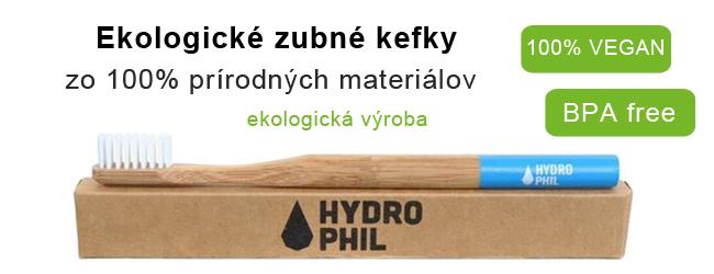 Ekologické zubné kefy Hydrophil