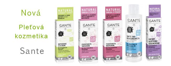 Nová pleťová kozmetika Sante