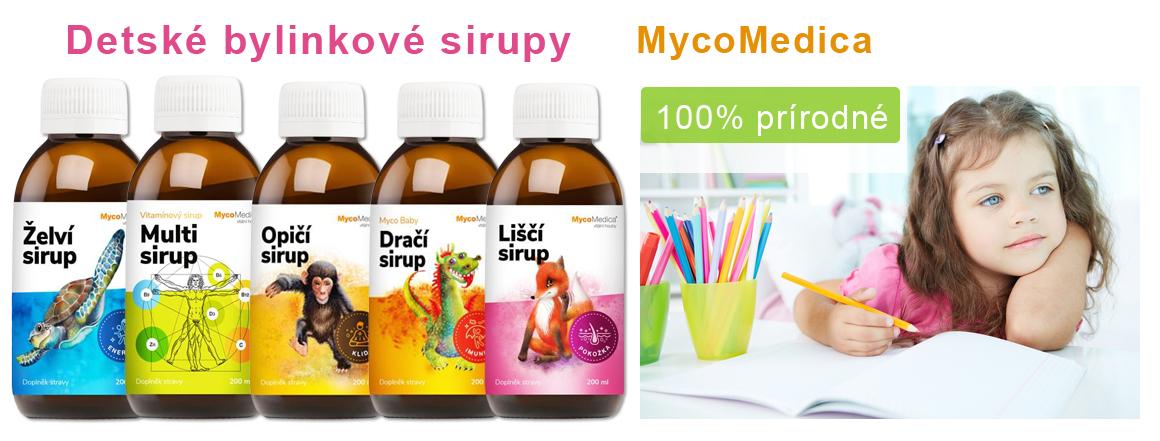 Detské bylinkové sirupy Mycomedica
