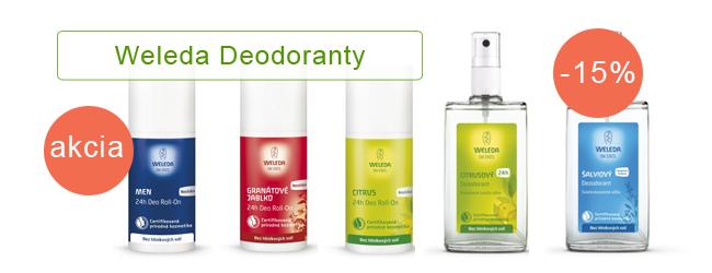 Deodoranty Weleda akcia 15%