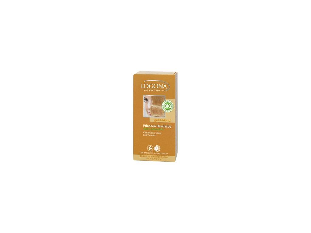 Prášková farba na vlasy - zlatá blond LOGONA - Bioterra.sk d85c647628e