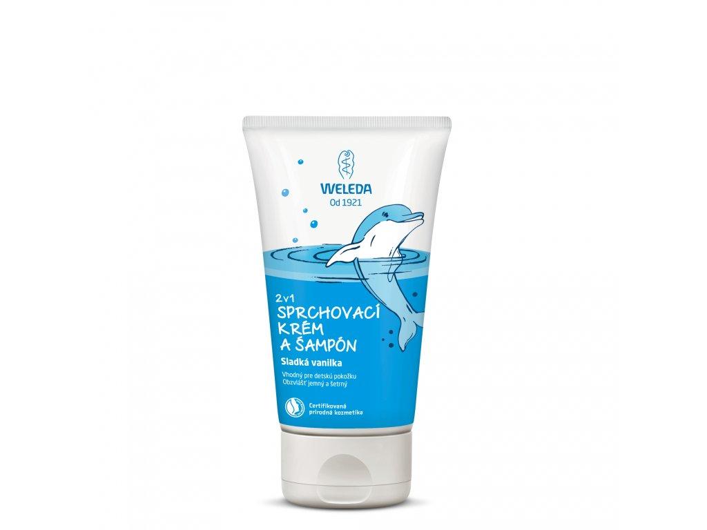 2 v 1 sprchovací krém a šampón Sladká vanilka