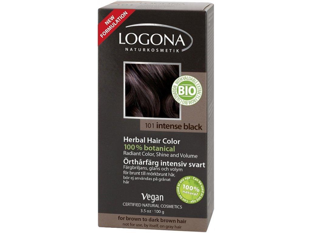 Prášková farba na vlasy - black intense LOGONA - Bioterra.sk 9e7772e27f6