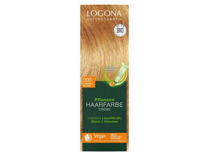 Krémová farba na vlasy Medená blond LOGONA