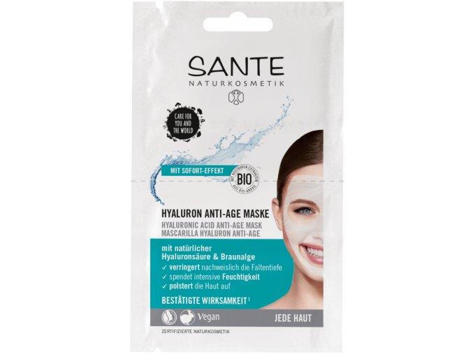 anti age maska s kyselinou hyaluronovou sante