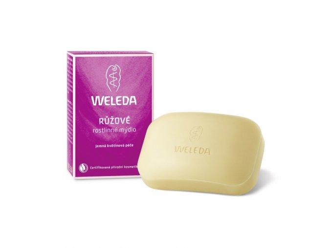Ružové rastlinné mydlo Weleda