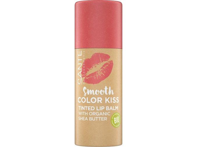 balzam na pery smooth color kis soft coral sante