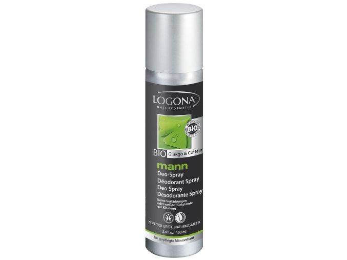 Prírodný deodorant pre mužov BIO ginko a kofeín LOGONA
