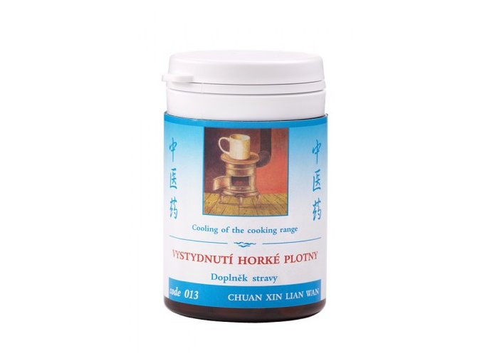 VYCHLADNUTIE HORÚCEJ PLATNE - CHUAN XIN LIAN WAN - TCM Herbs