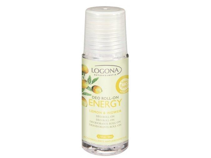 Energy Deo roll on citrón & zázvor LOGONA