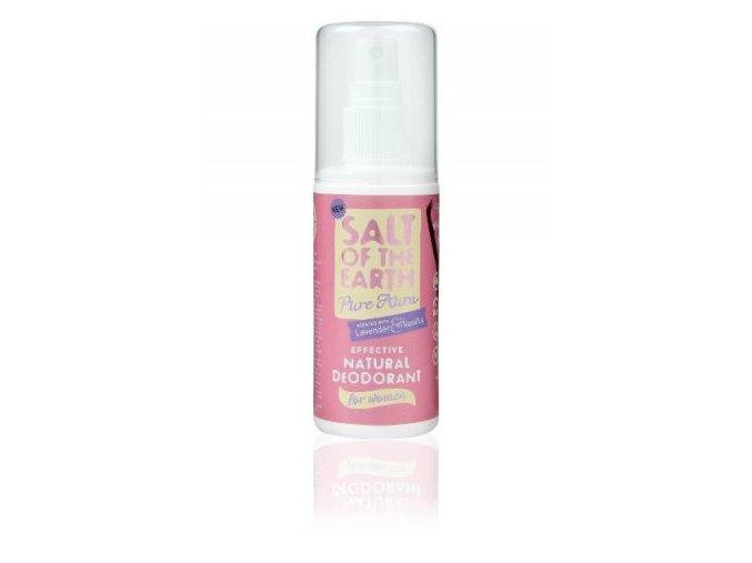 Deodorant sprej Pure Aura levanduľa vanilka - Crystal Spring