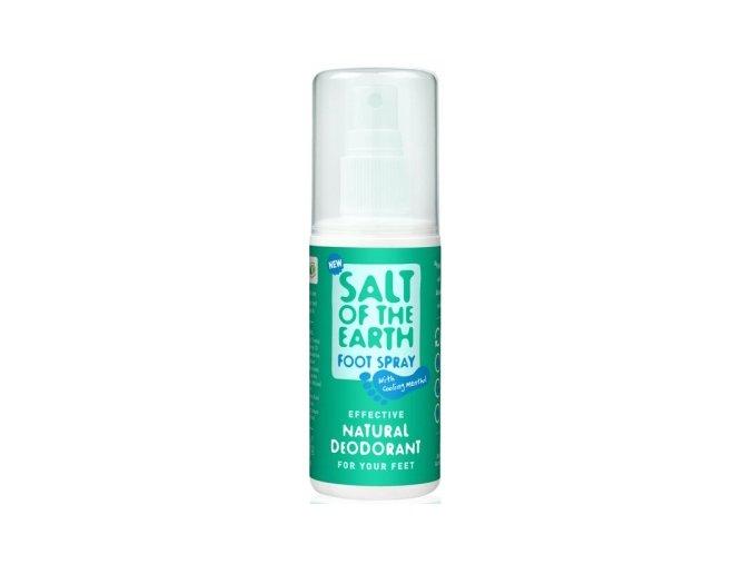 Deodorant sprej Soľ Zeme na nohy - Crystal Spring