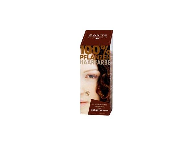 Sante prášková farba na vlasy - gaštanová