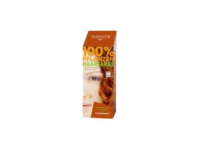 Sante prášková farba na vlasy - ohnivočervená