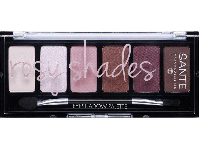 mineralne ocne tiene palette rosy shades 809