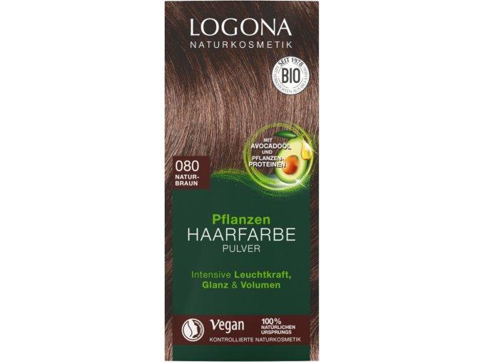 praskova farba na vlasy prirodna hneda