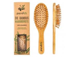 bambusova kefa na vlasy