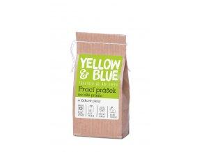 Prací prášok z mydlových orechov na biele prádlo a plienky Yellow & Blue